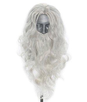 Parrucca con barba di Babbo Natale